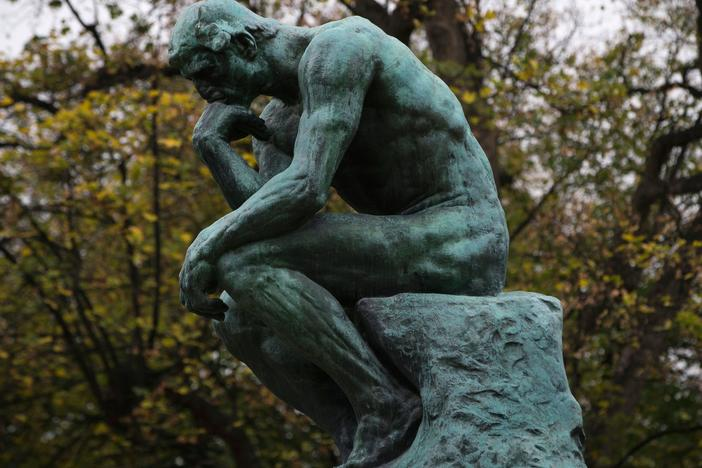The Rodin Museum in Paris is selling sculptures to pay the bills — and that's exactly as the artist intended. When he died in 1917, Auguste Rodin left the museum plaster casts for just this purpose. Above,<em> The Thinker</em> (Le Penseur) is pictured ahead of the Musée Rodin's reopening in November 2015.