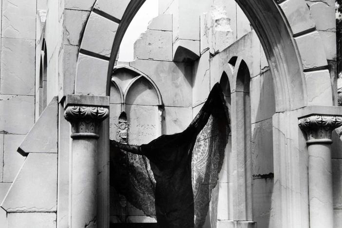 Clarence John Laughlin (American, 1905-1985), The Bat, 1940, gelatin silver print. High Museum of Art, Atlanta, gift of Lucinda W. Bunnen for the Bunnen Collection, 1981.93.