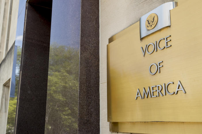 Veteran journalists of the Voice of America say the head of their parent agency is endangering their safety and national security.