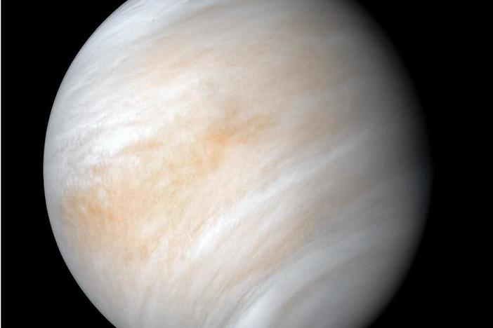 The images used to create this view of Venus were acquired by the Mariner 10 craft on Feb. 7 and 8, 1974. Decades after the Mariner 2 flew by the planet in 1962, much about the planet remains unknown.