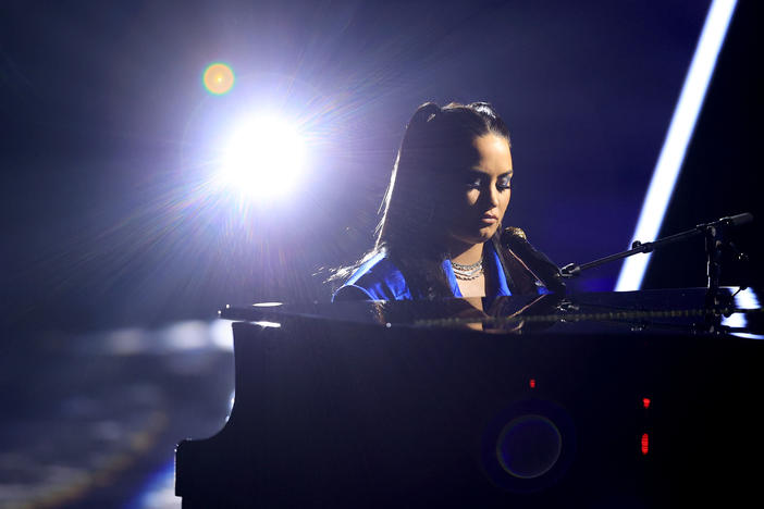 "Demi Lovato performs ""Commander in Chief"" during the Billboard Music Awards, broadcast on Oct. 14 from Los Angeles."