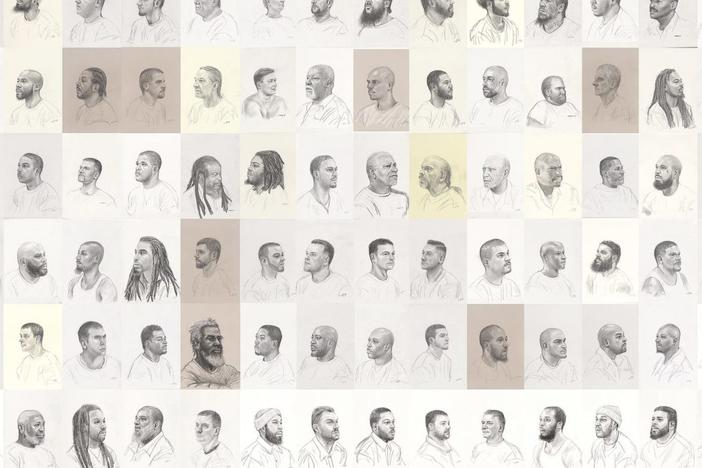 Mark Loughney,<em> Pyrrhic Defeat: A Visual Study of Mass Incarceration</em>, 2014-present. Graphite on paper (series of more than 600 drawings)