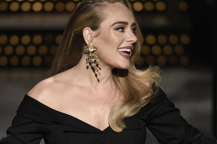 Host Adele during the <em>Saturday Night Live</em> monologue on Saturday, Oct. 24, 2020.