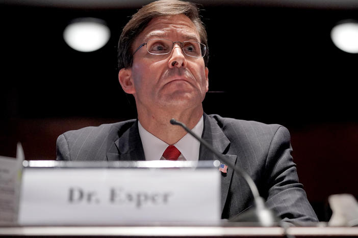 Secretary of Defense Mark Esper testifies during a House Armed Services Committee hearing on July 9 in Washington, D.C.