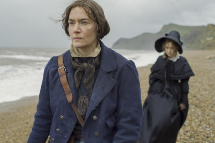 """I feel proud of myself now, as a 45-year-old woman, to have just played a role in which ... my age really shows on my face,"" says Kate Winslet. She plays British paleontologist Mary Anning in the new film <em>Ammonite.</em>"