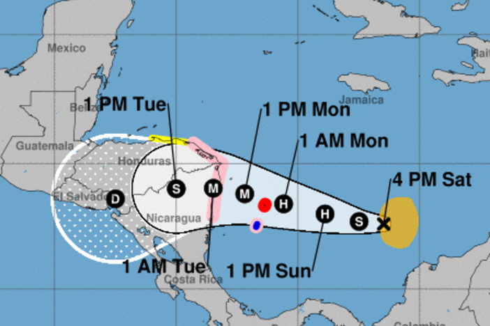 Tropical Storm Iota is expected to develop into a major hurricane within the next few days.