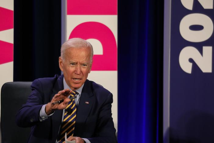 Joe Biden addresses a Planned Parenthood Action Fund candidate forum in June 2019 in Columbia, S.C.