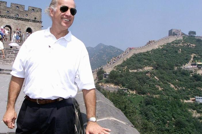 Then-Sen. Joe Biden, in August 2001, on his first trip to China as chairman of the Senate Foreign Relations Committee.
