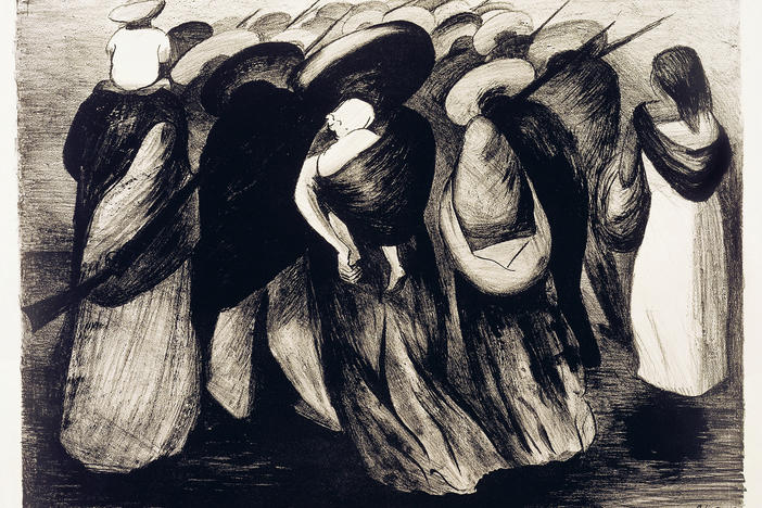 José Clemente Orozco, <em>Rear Guard,</em> 1929, lithograph. Collection of the McNay Art Museum, Museum purchase with funds from the Cullen Foundation, the Friends of the McNay, Charles Butt, Margaret Pace Willson, and Jane and Arthur Stieren