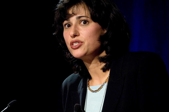 Dr. Rochelle Walensky is President-elect Joe Biden's pick to head the CDC. Here, she speaks at a 2006 HIV conference in Washington, D.C.