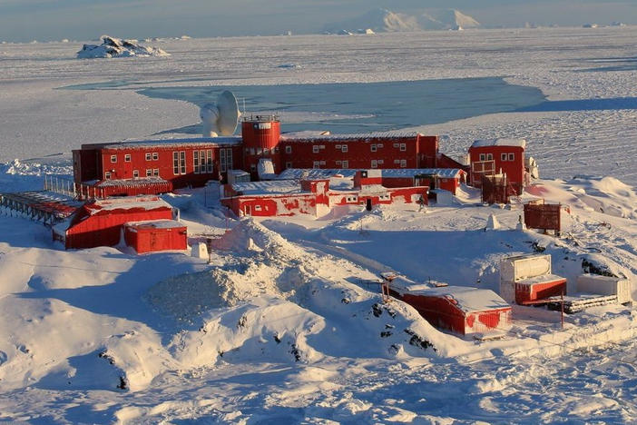 Chilean officials report 36 people have tested positive for the coronavirus on Antarctica. The permanent research station is located on tip of the continent south of Chile.