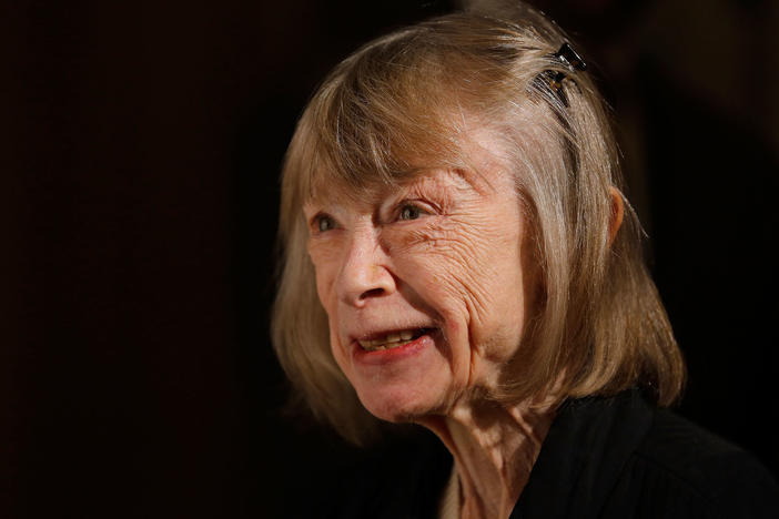Joan Didion attends The American Theatre Wing's 2012 Annual Gala at The Plaza Hotel on Sept. 24, 2012 in New York City.
