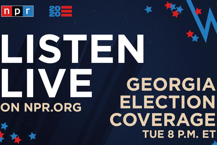 Listen to NPR's special coverage of the Senate runoffs in Georgia beginning at 8 p.m. ET.