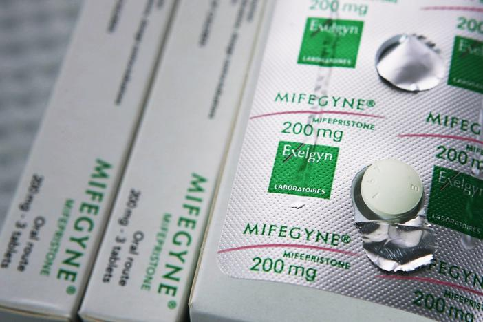 A U.S. Supreme Court's decision on Tuesday reinstates a requirement for patients to pick up the abortion drug mifepristone in person at a hospital or doctor's office, regardless of the COVID-19 pandemic.