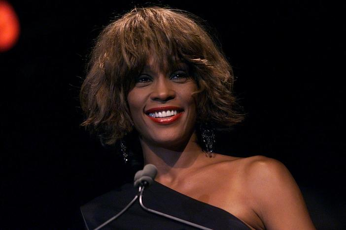 "The late Whitney Houston, seen here in 2001, is on the list of names of ""great Americans"" President Trump seeks to honor as statues in a proposed ""National Garden of American Heroes."" But with two days left in office, Trump is very unlikely to see his vision realized."