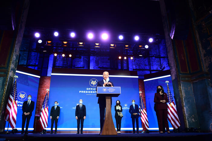 Then-President-elect Joe Biden introduces members of his foreign policy and national security teams in late November.