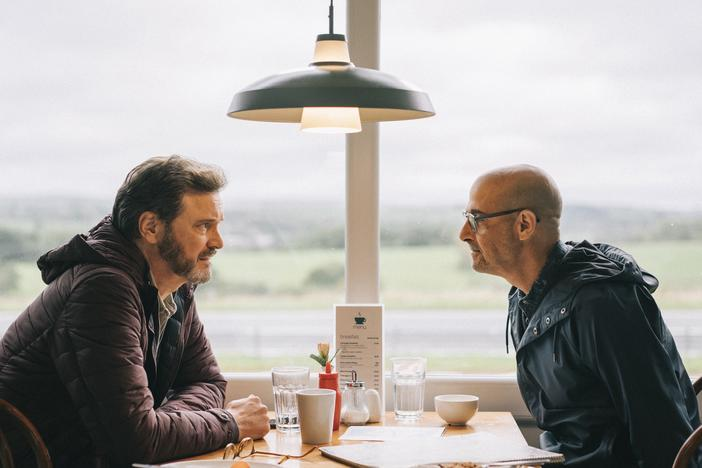 Sam (Colin Firth) and Tusker (Stanley Tucci) take one last trip in Harry Macqueen's <em>Supernova</em>.