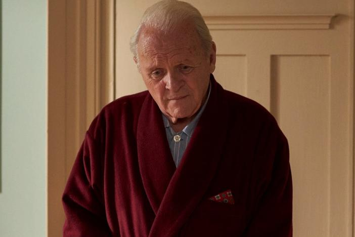 "<strong></strong>Anthony Hopkins says he remembers standing at his father's bedside when he died: ""And I remember thinking to myself: Yeah, you're not so hot either, because one day it'll happen to you. This is life."" Hopkins stars as Anthony, a man experiencing dementia, in <em>The Father.</em>"