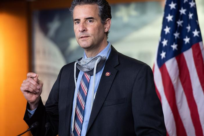 Rep. John Sarbanes, D-Md., pictured in May 2020, reintroduced legislation on voting and campaign finance this year, in hope it can now become law with Democrats' control of Congress.