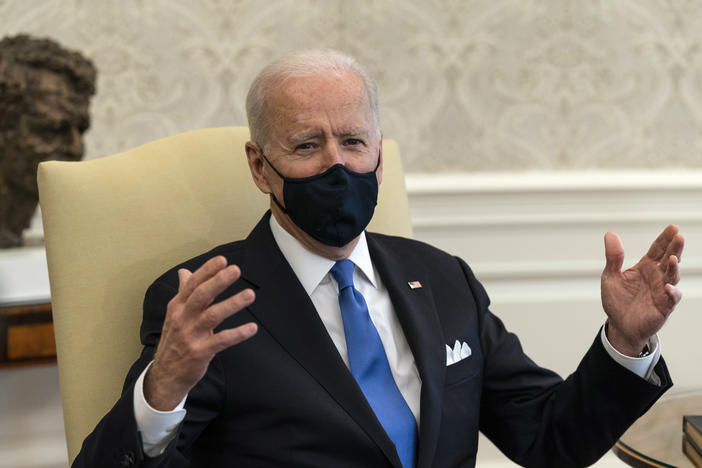 President Biden says states like Texas and Mississippi are making a big mistake by ending their mask mandates.
