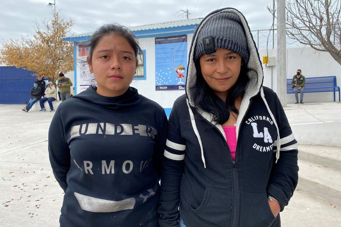 Dilicia Mejia and her 16-year-old, Jorlene, from Honduras, showed up at a migrant shelter in Reynosa three weeks ago. They are part of the new surge of Central Americans hoping somehow they will be allowed into the U.S. under Biden's new immigration rules.