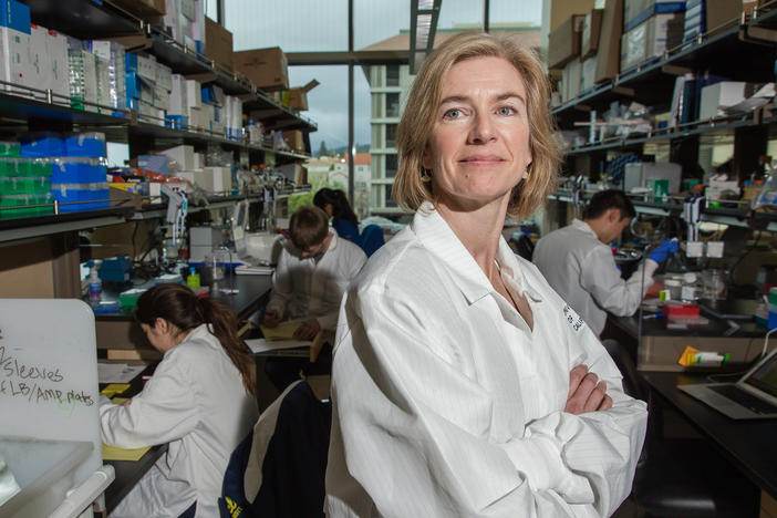 Biochemist Jennifer Doudna, the subject of Walter Isaacson's new biography <em>The Code Breaker, </em>shared a Nobel prize in chemistry in 2020 for the part she played in developing the CRISPR gene editing technology.