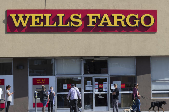 Wells Fargo customers are complaining that they can't see whether they received their stimulus checks because of an online banking outage.