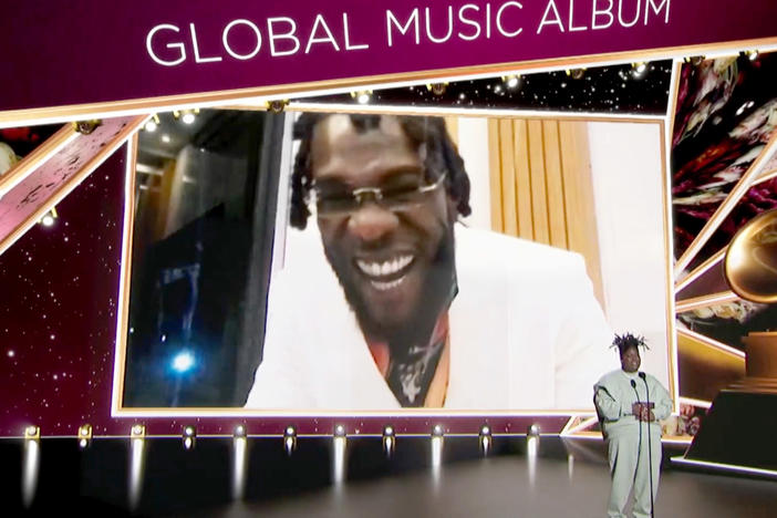 "Burna Boy accepted the Best Global Music Album award for 'Twice as Tall' from Chika at the Grammy awards on March 14. His <a href=""https://youtu.be/Kx68g1rLbbU"" data-key=""179"">acceptance speech</a> was dedicated to all of Africa."