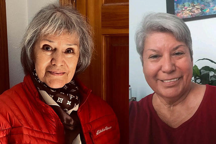Sisters Carmencristina Moreno, left, and Rosemary Selzer remembered their late father during a remote StoryCorps conversation this month.