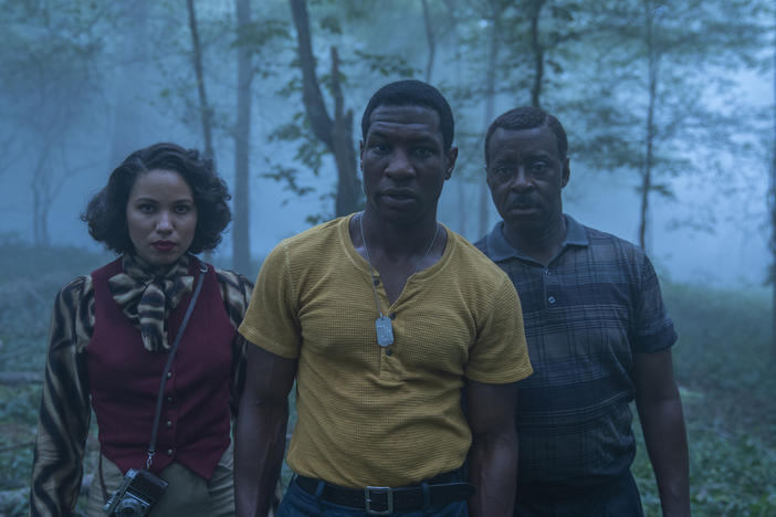 Jurnee Smollett, Jonathan Majors and Courtney B. Vance star in HBO's <em>Lovecraft Country.</em>