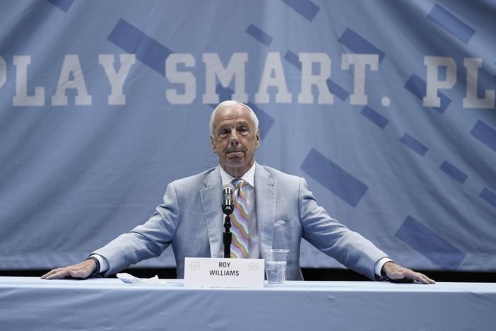 Roy Williams of the University of North Carolina is retiring after 33 seasons and 903 wins as a college basketball head coach. He led the Tar Heels to three NCAA championships.
