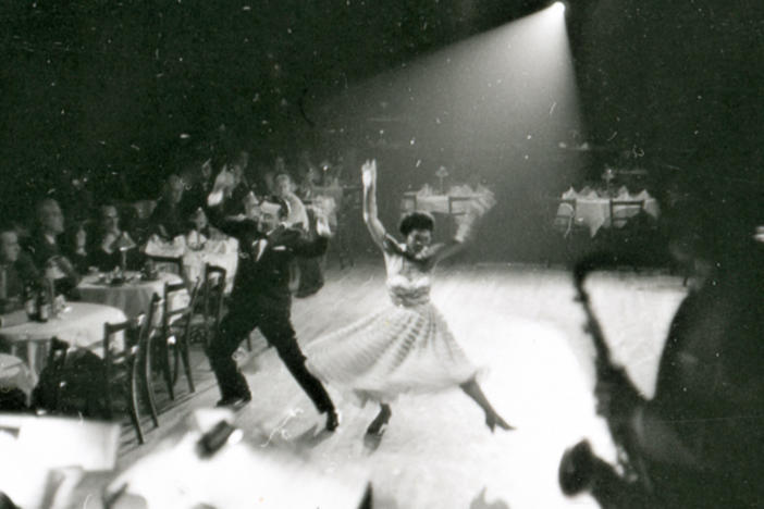 Dorothy Toy and Paul Wing, the dance duo known as Toy & Wing, perform on the floor of the Forbidden City nightclub in San Francisco during the late 1950s.