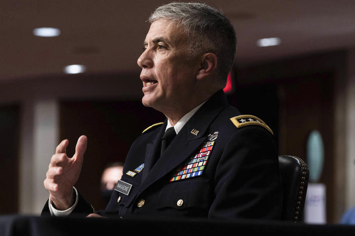 "Army Gen. Paul Nakasone, director of the National Security Agency, says the U.S. has a ""blind spot"" when it comes to foreign intelligence services that effectively carry out cyberspying from inside the U.S."