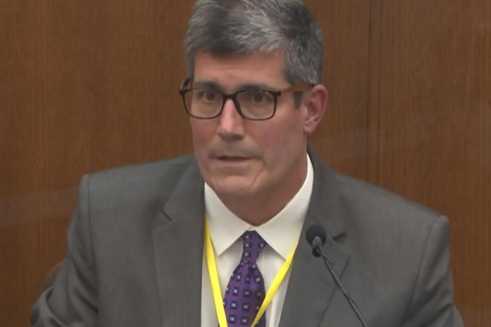 Dr. Andrew Baker, the Hennepin County medical examiner, testifies Friday on the cause and manner of George Floyd's death.