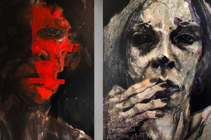 Artist William Stoehr says he wants his portraits to show that addiction affects everyone, and to prompt the sort of conversations that people began having about HIV/AIDS decades ago.