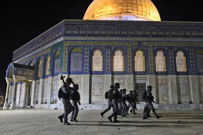 Israeli-Palestinian Clashes Escalate In Ramadan Night Violence At Al-Aqsa Mosque