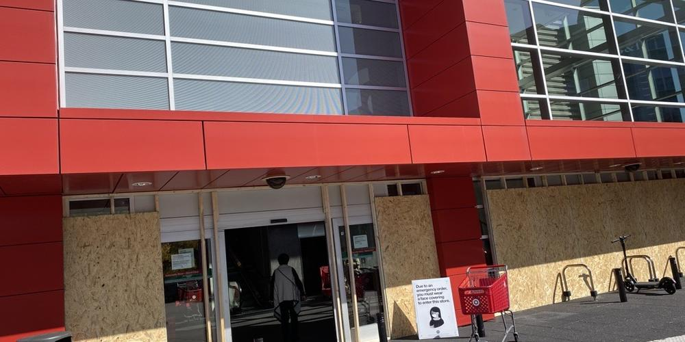 Target Boarded Up in Atlanta