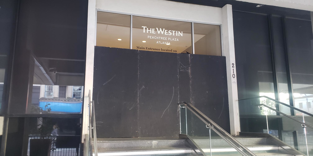 The Westin Boarded Up