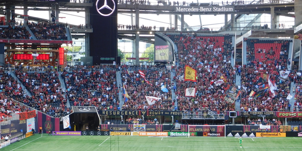 v\Nearly 41,000 attended the first full-capacity Atlanta United game on Saturday – a record number since the onset of the COVID-19 pandemic.