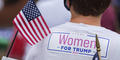 A woman attends a pro-Trump rally in Manchester, Georgia, ahead of Joe Biden's later visit to nearby Warm Springs. The votes of women have been hotly contested up and down the ballot in Georgia this election cycle.
